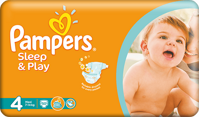 plienky PAMPERS Sleep & Play 4 Maxi, 50 ks