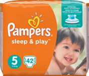 Pampers Sleep&play junior 42ks