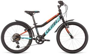 bicykel DEMA VEGA 6SP black-blue 2020