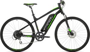 e-bike ROCK MACHINE CROSSRIDE e350 black-silver-green 2019