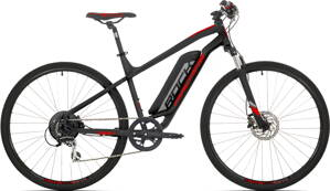 e-bike ROCK MACHINE CROSSRIDE e350 black-silver-red 2019