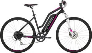 e-bike ROCK MACHINE CROSSRIDE e350 Lady black-silver-pink 2019