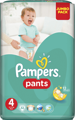 plienky PAMPERS Pants 4, 52 ks