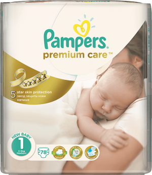 plienky PAMPERS Premium Care 1 NEWBORN, 78 ks