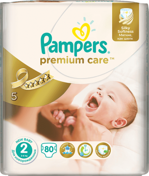 plienky PAMPERS Premium Care 2 MINI, 80 ks