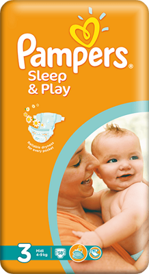 plienky PAMPERS Sleep & Play 3 Midi, 58 ks