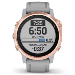 Garmin fénix 6S Sapphire Rose Gold-tone Powder Gray band