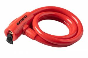 Zámok na bicykel Extend COMPANION 12*1200mm, red