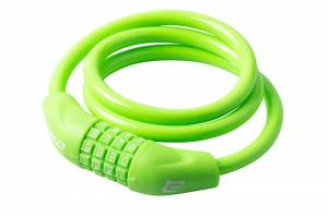 Zámok na bicykel Extend NUMERIC 4, 10*1000mm, lime green