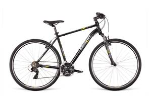 Bicykel Dema MERANO 3.0 black-gray-lime 20""